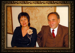 Ibragimova Roza Safiullovna with her husbend
