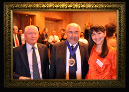 Sana Mussayeva (Shandybayeva) with Lord Mayor of the City of London Ian Luder