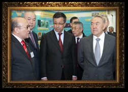 Adilov Zheksenbek with President of Republic of Kazakhstan - N.A. Nazarbayev